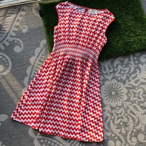 Kate Spade Red Chevron Dress